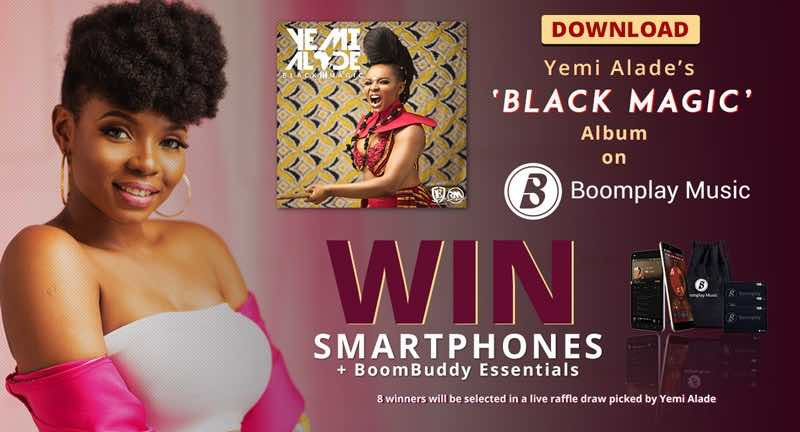 Download Yemi Alade's 'Black Magic' Album & Win! - Boomplay