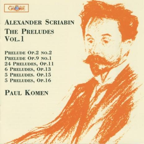 Five Preludes, Op. 16: No. 4 in E-Flat Minor