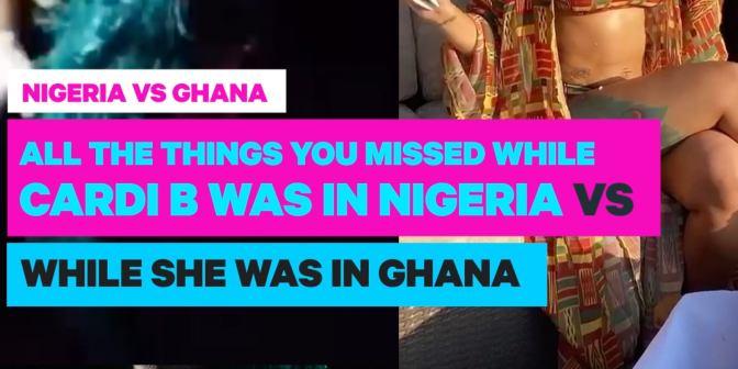 Cardi B in Nigeria vs Cardi B in Ghana - Boomplay