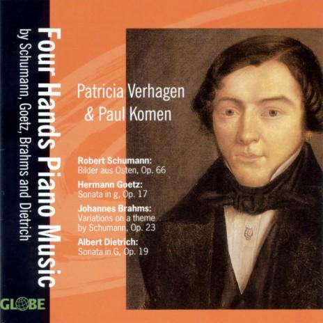 Sonata in G Minor, Op. 17 for Piano Four Hands: I. Langsam - Sehr lebhaft ft. Patricia Verhagen