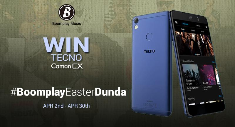 Win the brand new CAMON CX with #BoomEasterDunda - Boomplay