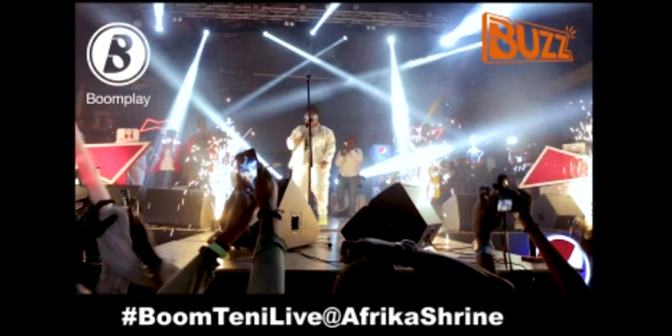 Teni Live at Afrika Shrine with Buzz - Boomplay
