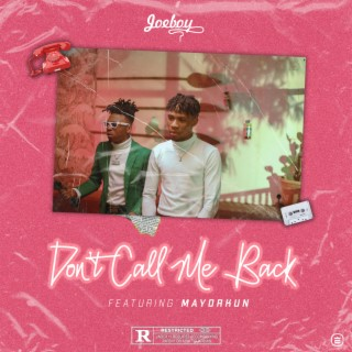 Don't Call Me Back - Boomplay