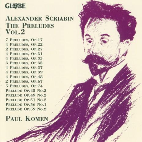 4 Preludes, Op. 33: III. No. 3 in C Major