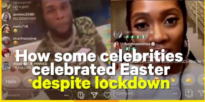 #WhatTheBuzz - How some celebrities celebrated Easter despite lockdown - Boomplay
